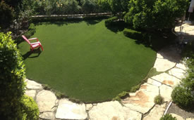 DIY Artificial Turf Project After.