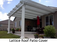 Lattice roof patio cover