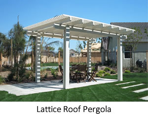 Lattice Roof Aluminum Pergola
