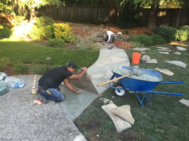 Laying the Flagstone.