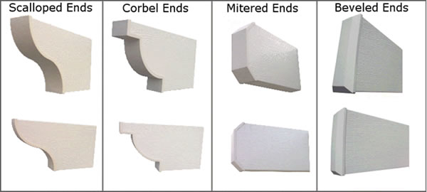 Scalloped, Corbel, Mitered and Beveled End Cuts