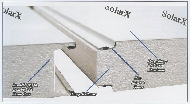 Solar X insulated roof panels not only provide relief from the sun and rain, but also repel heat and cold.