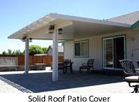 Solid roof patio cover
