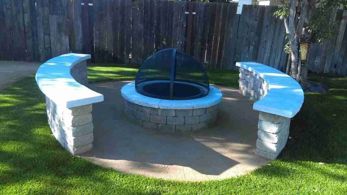 Antioch, CA Backyard Artificial Turf & Fire Pit with ...