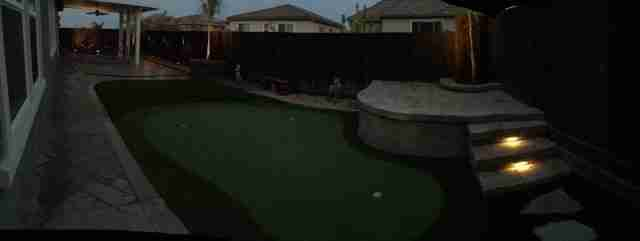 Project: Antioch, CA Stamped Concrete, Pavers, Putting Green & Outdoor Lighting