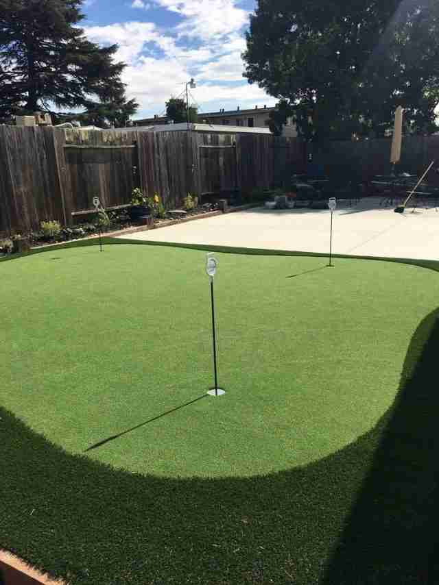 Project: Backyard Putting Green in Hayward, CA