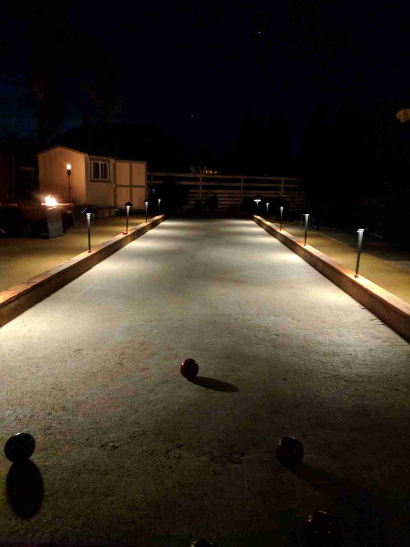Livermore Bocce Court With Oyster Shell Flour Surface