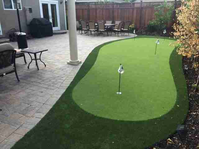 Project: Redwood City, CA Pavers & Putting Green
