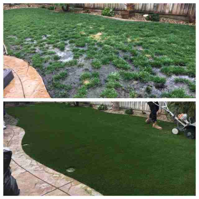 Project: Discovery Bay, CA – Backyard Synthetic Grass Before & After