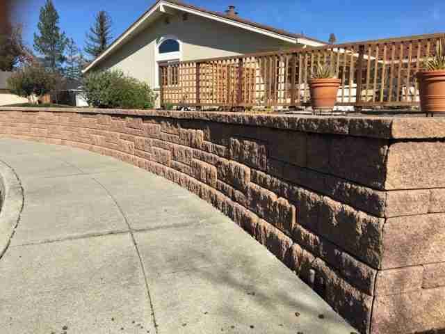 Project: Livermore, CA Front Yard Retaining Wall