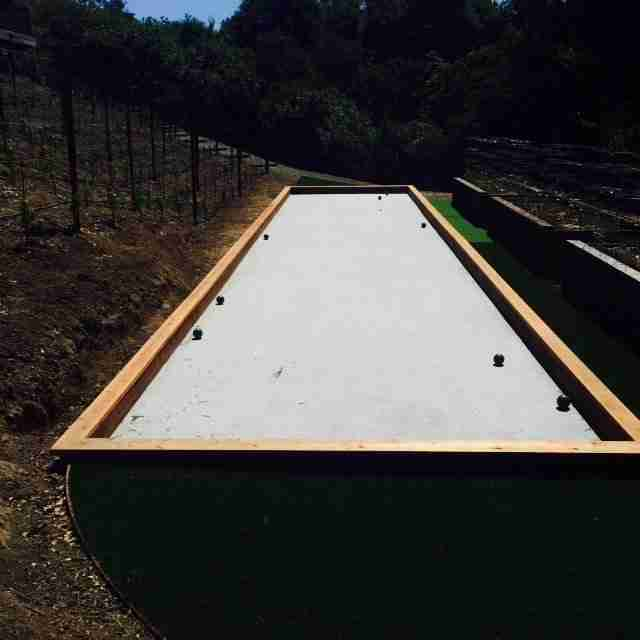 Project: Orinda, CA Oyster Shell Flour Bocce Court