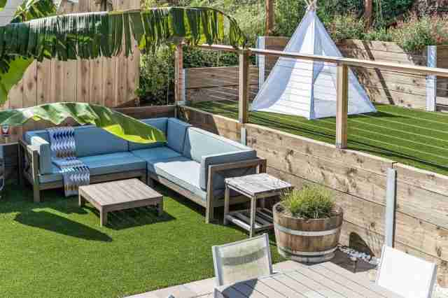 Project: Multi-Level Backyard Turf Project in Pacifica, CA