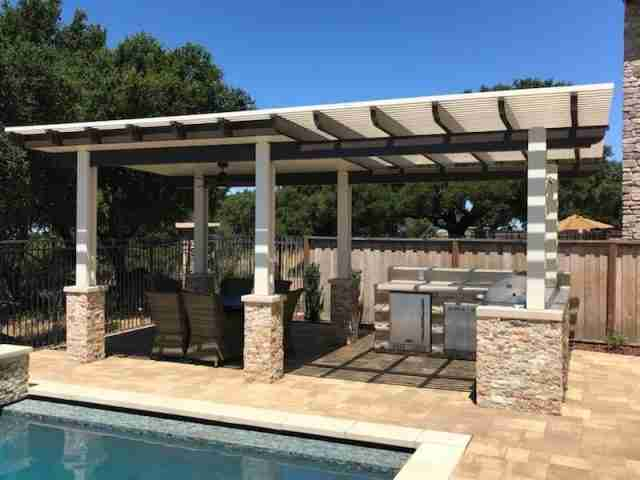 Project: Free-Standing Pergola Installed With Lattice and Solid Roof Combo