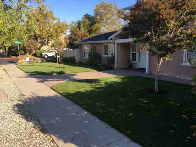 Project: Front Yard Synthetic Grass in Pleasanton, CA