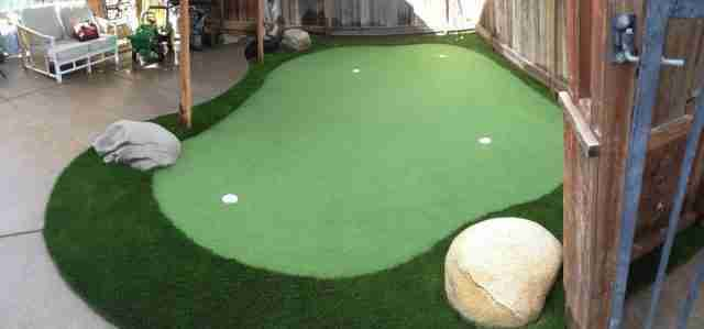 Project: Hayward, CA Backyard 4-Hole Putting Green