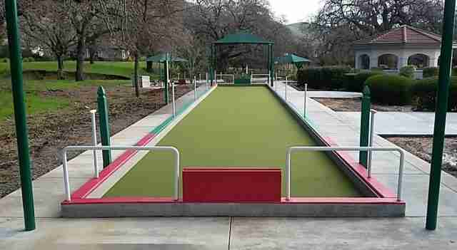 Project: Fairfield, CA Commercial Bocce Courts (Paradise Valley Estates)