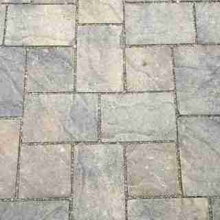 Basalite Permeable Artisan Slate Pavers in Positano Color