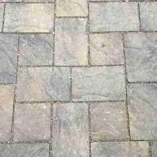 Basalite Permeable Artisan Slate Pavers in Positano Color