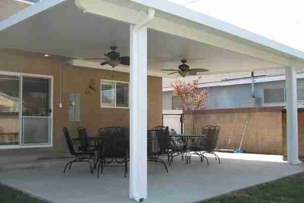 Project: Dublin Solid Panel Patio Cover with Standard Square Posts