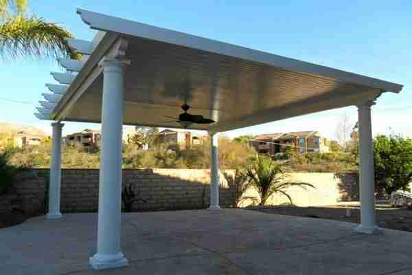 Project: Detached Solid Roof Pergola in San Jose – Corbel Cut with Roman Columns