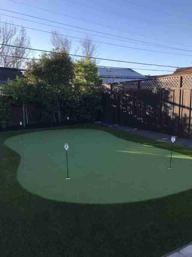 Project: Happy Customer Shares His Second Putting Green on Yelp